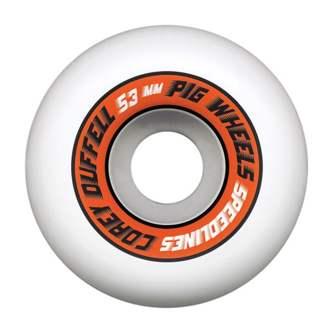 Pig Corey Duffel Pro Speedline Skateboard Wheels 53mm - White (Set of 4)