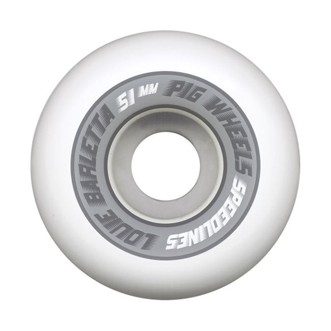 Pig Louie Barletta Pro Speedline Skateboard Wheels 51mm - White (Set of 4)
