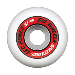 Pig Leo Romero Pro Speedline Skateboard Wheels 51mm - White (Set of 4)