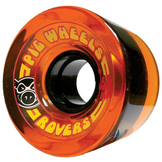 Pig Rover Skateboard Wheels 59mm 78a - Orange (Set of 4)