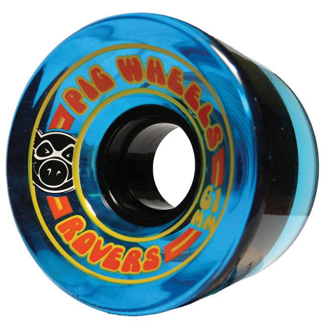 Pig Rover Skateboard Wheels 61mm 78a - Blue (Set of 4)