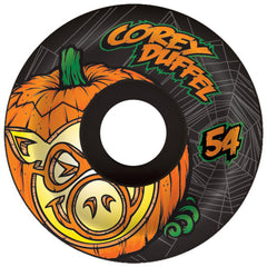 Pig Corey Duffel Jack-O-Lantern Skateboard Wheels - Black - 54mm 101a (Set of 4)