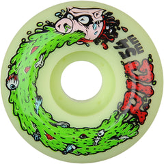 Pig Swine Flu Skateboard Wheels - Lime Green - 54mm 101a (Set of 4)