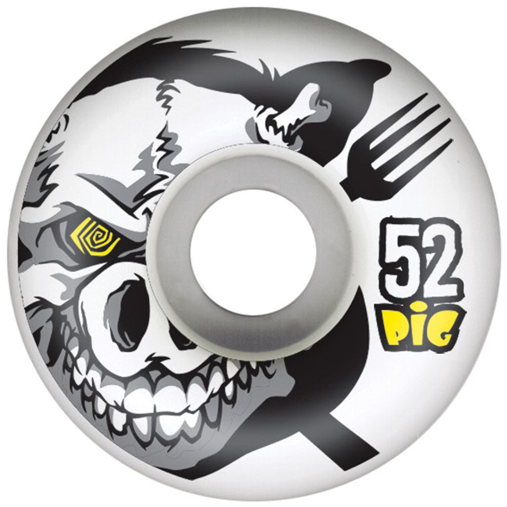 Pig X-Ray Skateboard Wheels - White - 52mm 101a (Set of 4)