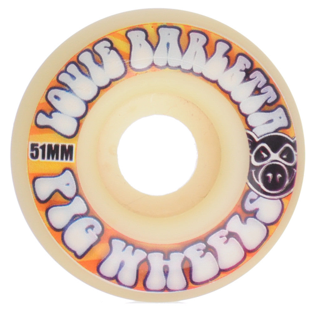 Pig Louie Barletta Flashback Skateboard Wheels - White - 51mm  (Set of 4)