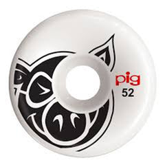 Pig Head C-Line Skateboard Wheels - White - 52mm (Set of 4)
