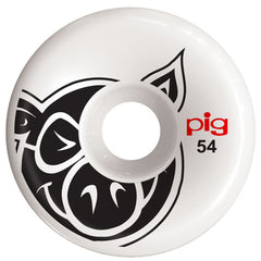 Pig Head C-Line Skateboard Wheels - White - 54mm (Set of 4)