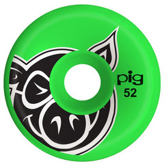 Pig Head C-Line Skateboard Wheels - Green - 52mm (Set of 4)