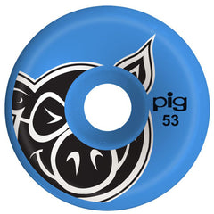 Pig Head C-Line Skateboard Wheels - Blue - 53mm (Set of 4)