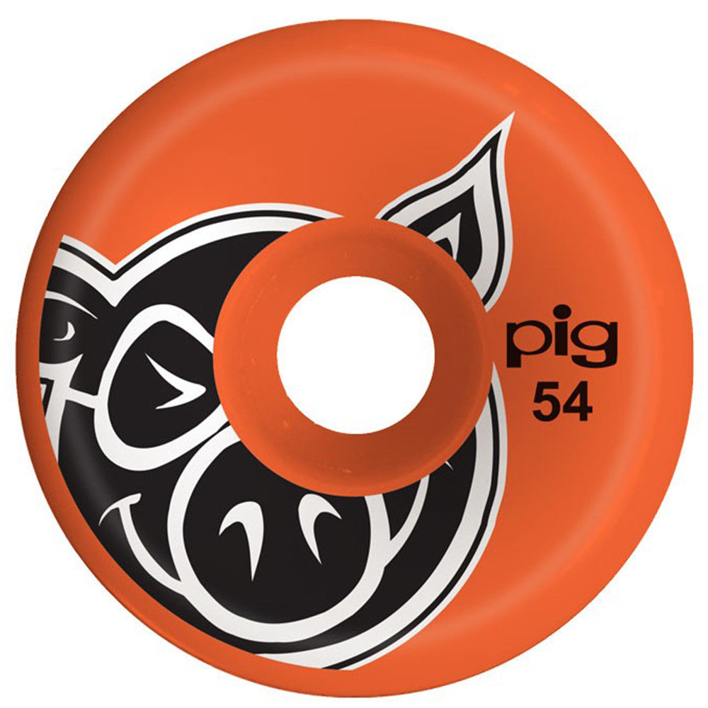 Pig Head C-Line Skateboard Wheels - Orange - 54mm (Set of 4)