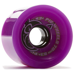 Pig Head Voyager Skateboard Wheels - Purple - 70mm 83a (Set of 4)