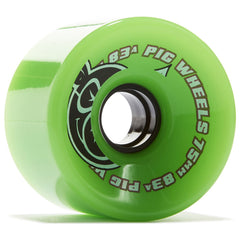 Pig Head Voyager Skateboard Wheels - Green - 75mm 83a (Set of 4)