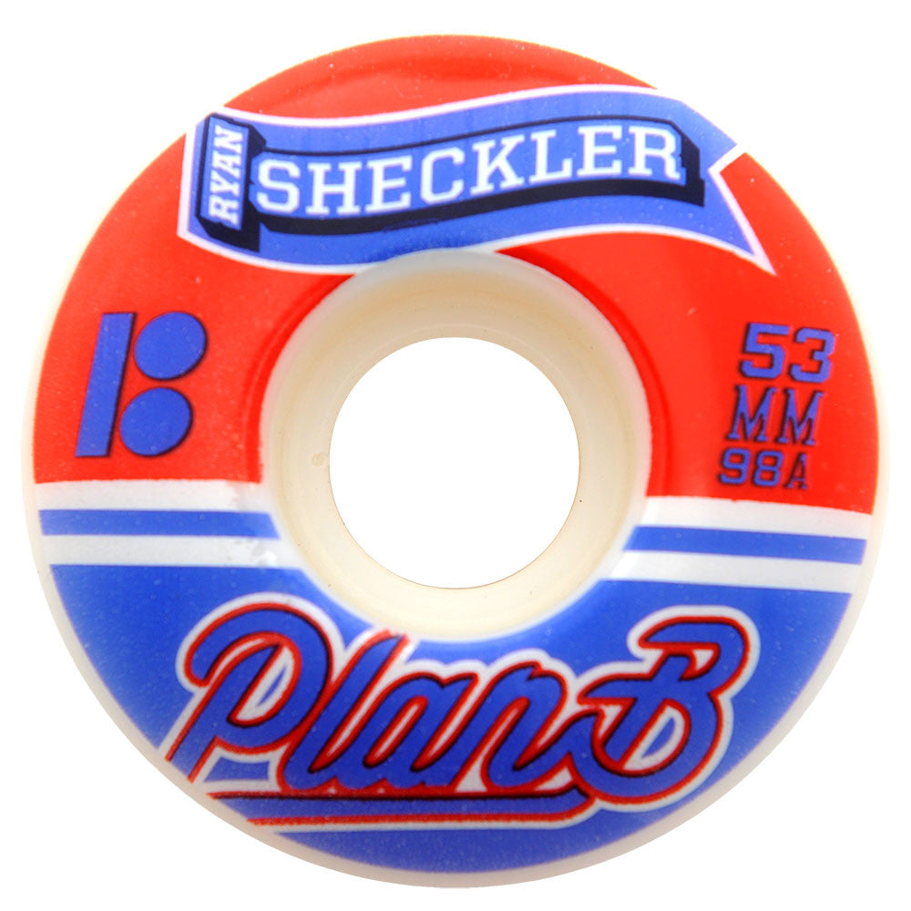 Plan B Ryan Sheckler Clips Skateboard Wheels - White - 53mm (Set of 4)