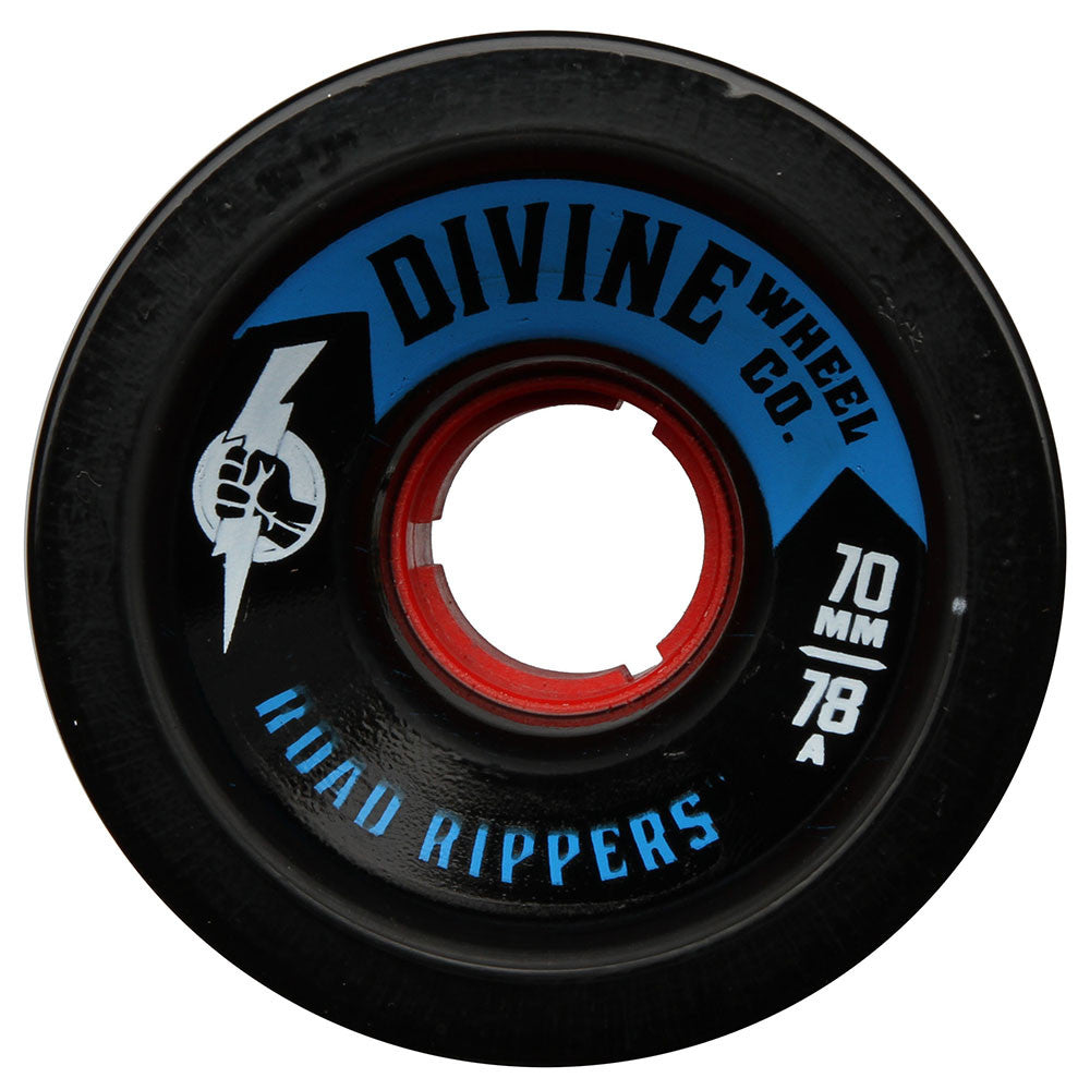 Divine Road Rippers Skateboard Wheels - Black - 70mm 78a (Set of 4)