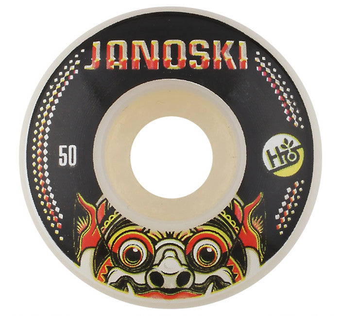 Habitat Janoski Bali Mask Skateboard Wheels 50mm - White (Set of 4)