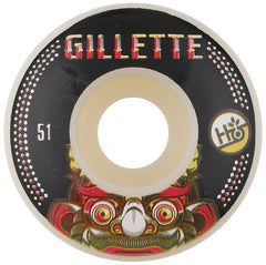 Habitat Gillette Bali Mask Skateboard Wheels 51mm - White (Set of 4)