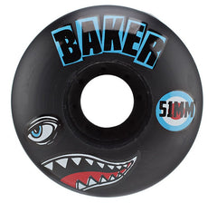 Baker Bomber Skateboard Wheels 51mm - Black (Set of 4)