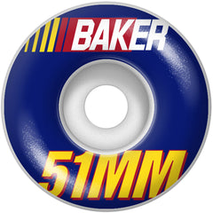 Baker Pit Stop Skateboard Wheels - Blue - 51mm (Set of 4)