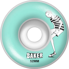 Baker Doodles Skateboard Wheels - Light Blue - 52mm (Set of 4)