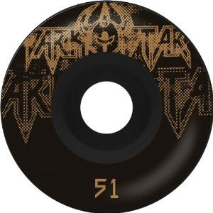 Darkstar Decay Price Knight Skateboard Wheels - Black/Gold (Set of 4)