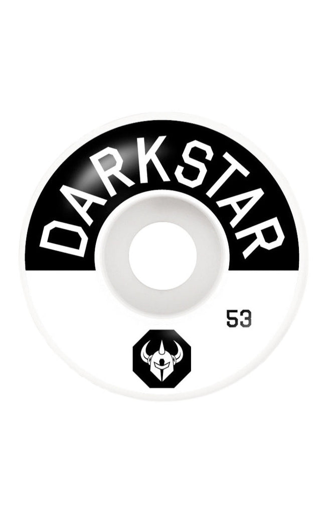 Darkstar Timeworks Skateboard Wheels - Black/White - 53mm (Set of 4)