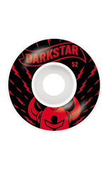 Darkstar Axis Skateboard Wheels - Red/White - 52mm (Set of 4)