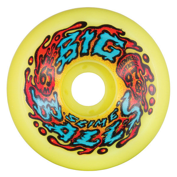 Santa Cruz SlimeBall Big Balls Skateboard Wheels 65mm 97a - Yellow (Set of 4)