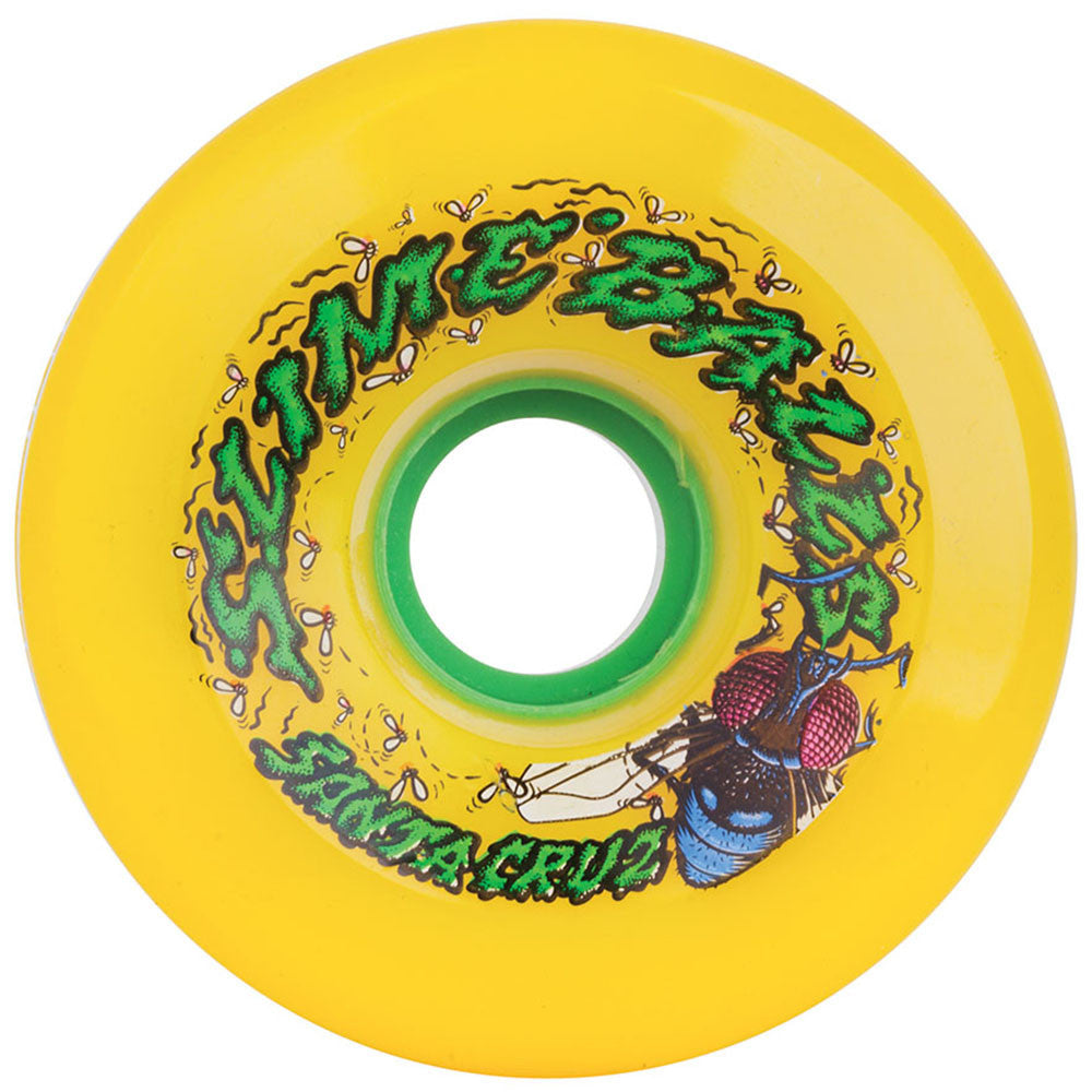 Santa Cruz Slime Balls Roadkill Skateboard Wheels - Yellow - 72mm 78a (Set of 4)