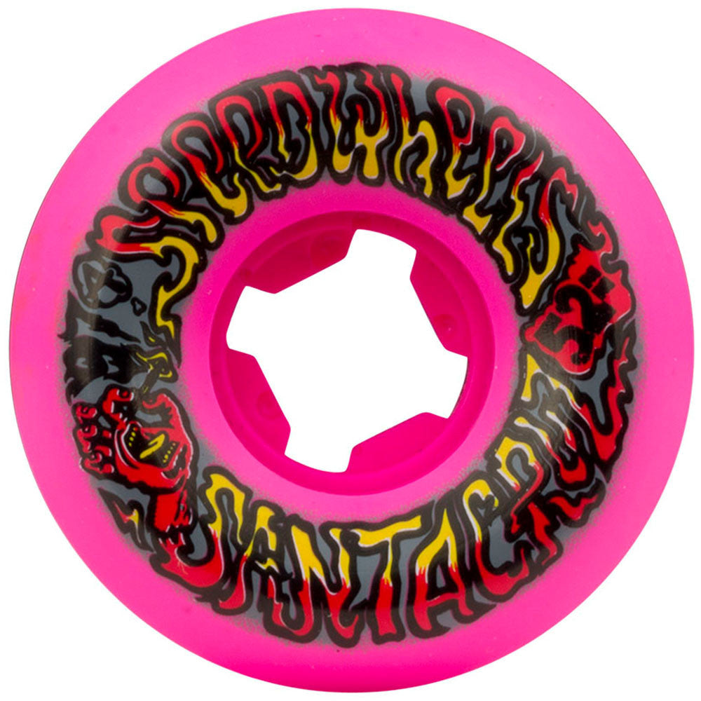 Santa Cruz Slime Balls Speed Skateboard Wheels - Pink - 52mm 97a (Set of 4)