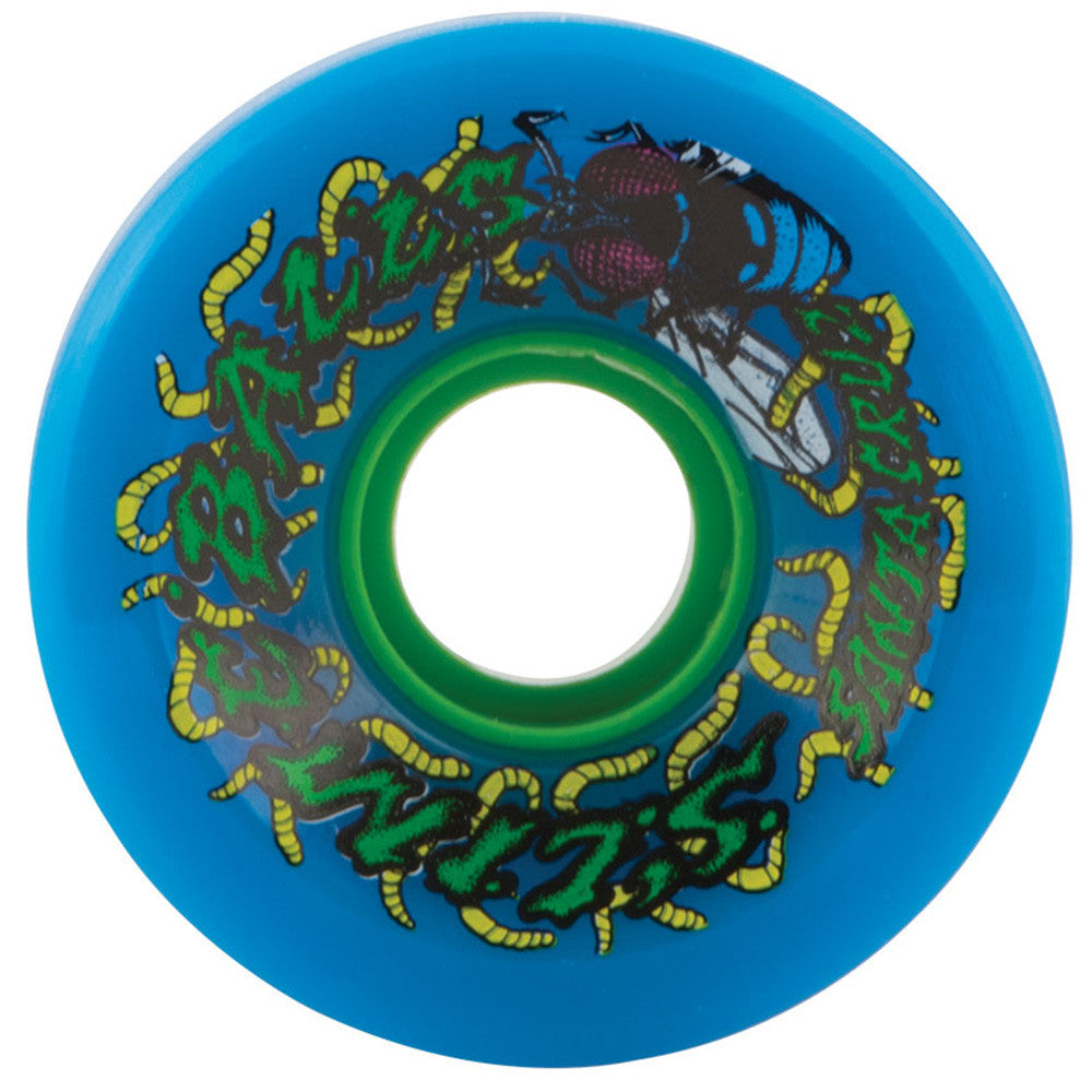 Santa Cruz Slime Balls Maggots Skateboard Wheels - Blue - 60mm 78a (Set of 4)