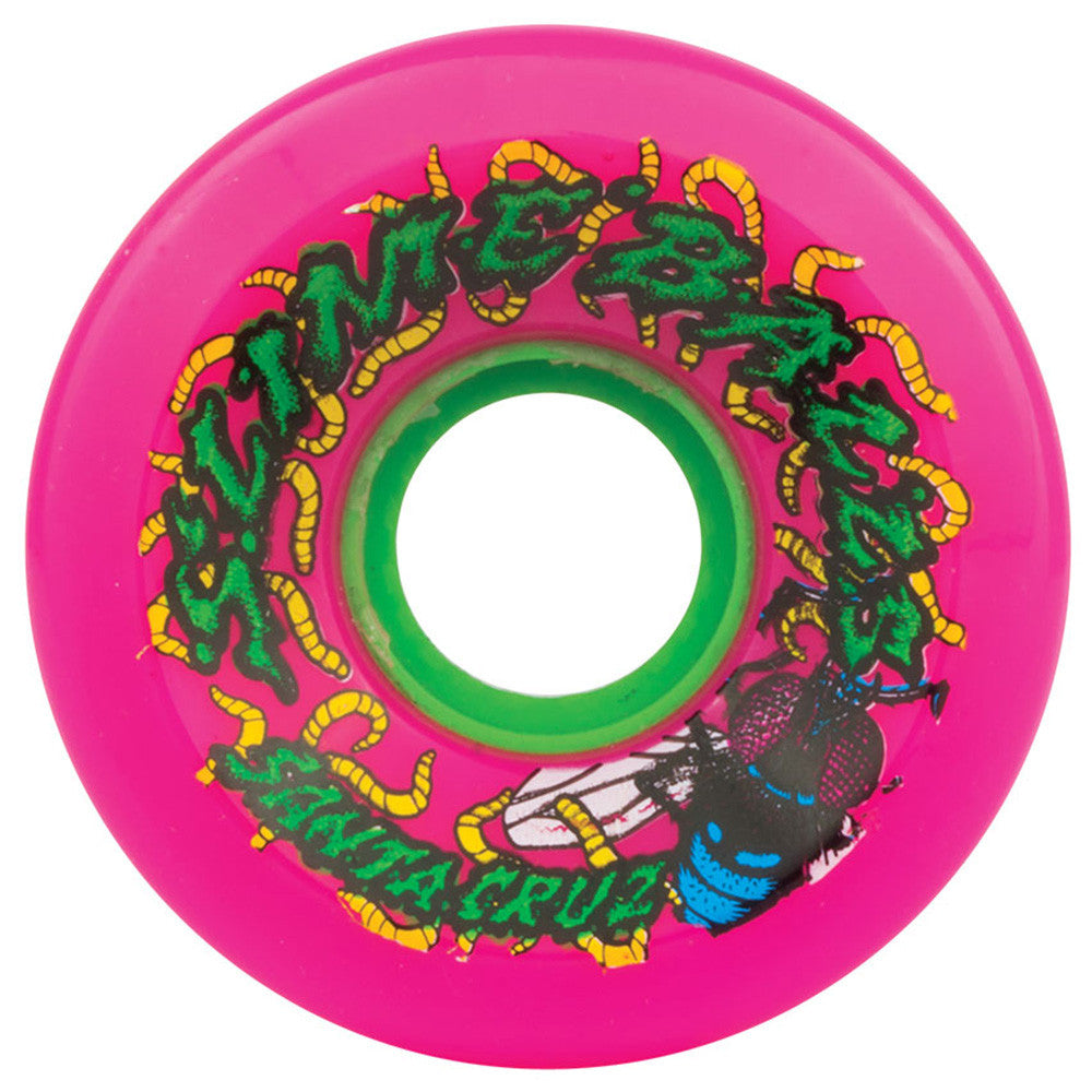 Santa Cruz Slime Balls Maggots Skateboard Wheels - Pink - 60mm 78a (Set of 4)