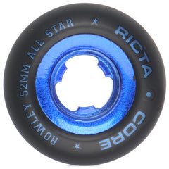 Ricta Geoff Rowley Chrome Core Skateboard Wheels - Black/Blue - 52mm  (Set of 4)