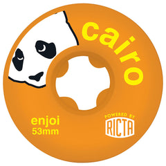 Ricta Enjoi Cairo SLIX Skateboard Wheels - Orange - 53mm 81b (Set of 4)