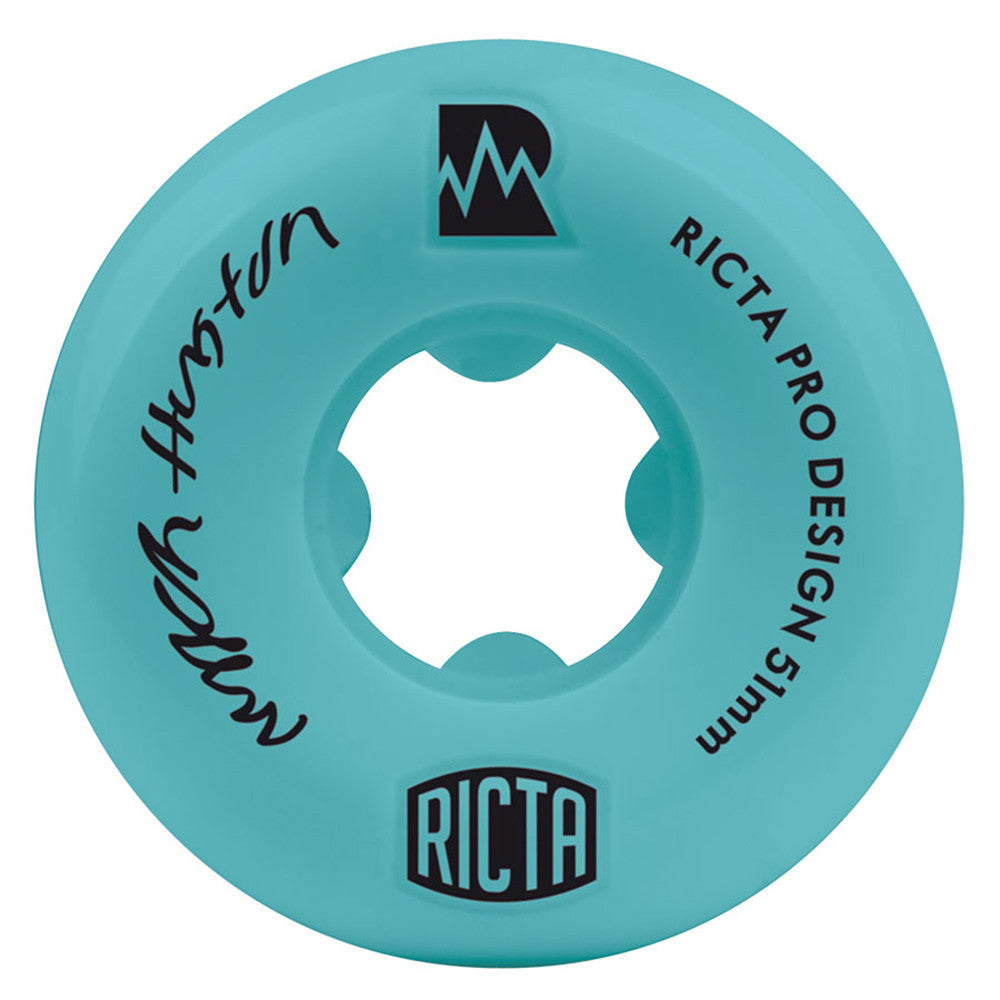 Ricta Nyjah Huston Pro NRG Skateboard Wheels - Teal - 51mm 81b (Set of 4)