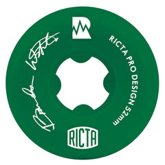 Ricta Brandon Westgate Pro NRG Skateboard Wheels - Green - 52mm 81b (Set of 4)