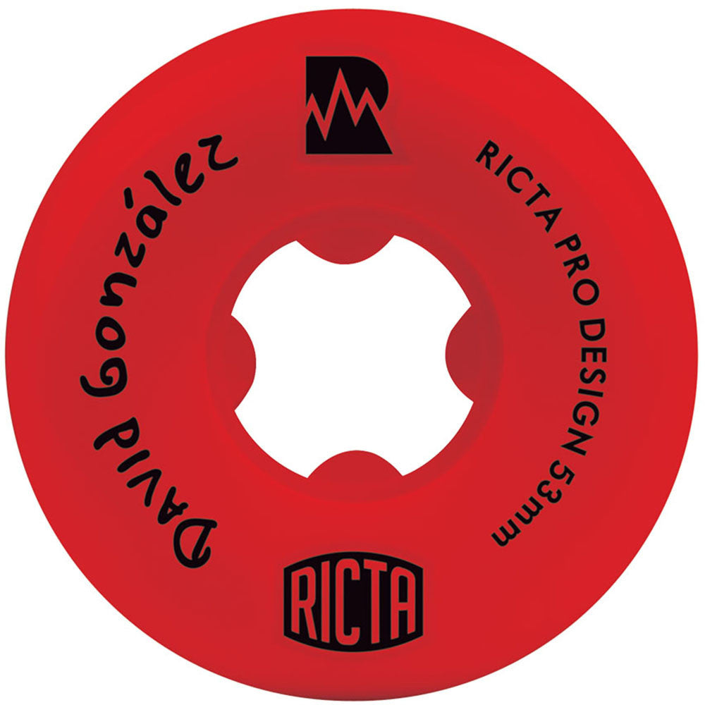 Ricta David Gonzalez Pro NRG Skateboard Wheels - Red - 53mm 81b (Set of 4)