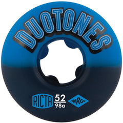 Ricta Duo Tones Skateboard Wheels - Blue/Black - 52mm 98a (Set of 4)