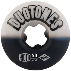 Ricta Duo Tones Skateboard Wheels - White/Black - 53mm 98a (Set of 4)