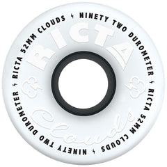 Ricta Clouds Skateboard Wheels - Black - 52mm 92a (Set of 4)