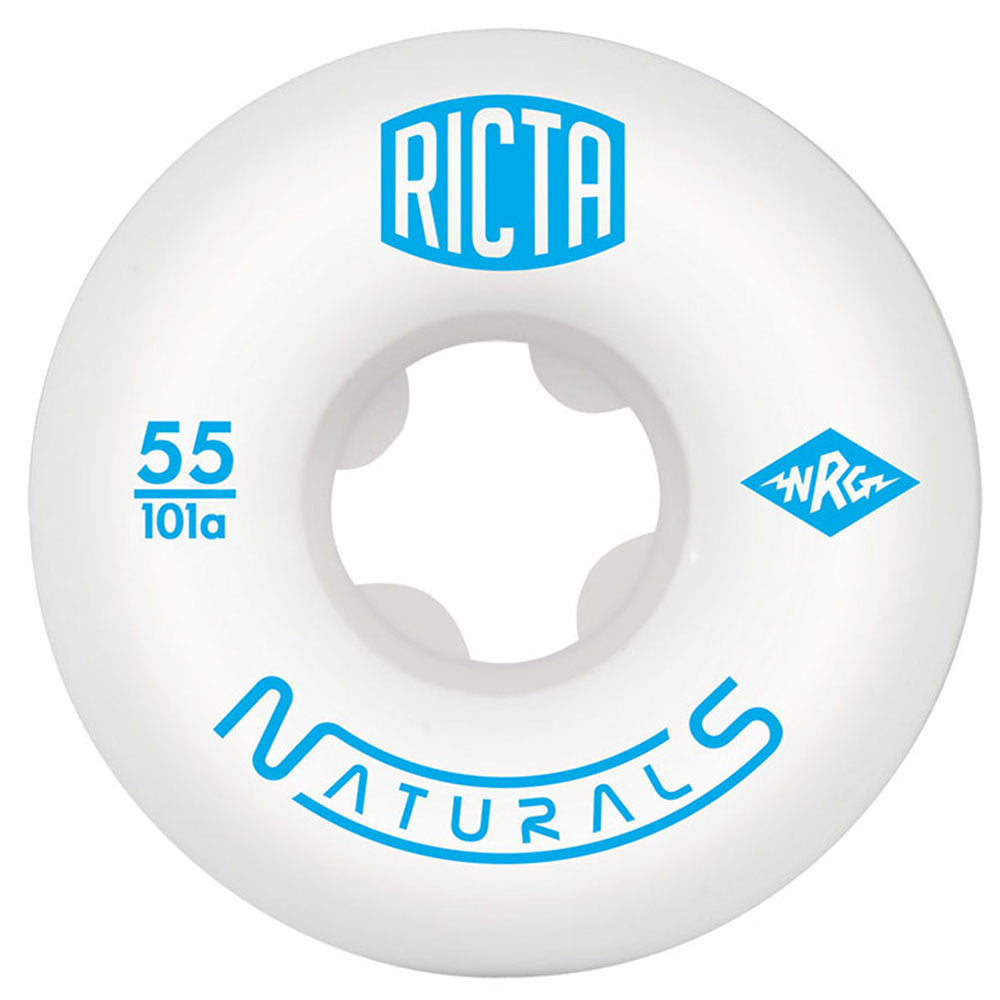 Ricta Naturals Skateboard Wheels (Set of 4) - White - 55mm 101a
