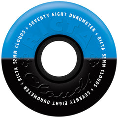 Ricta Cloud Duotones Skateboard Wheels - Black/Blue - 52mm 78a (Set of 4)