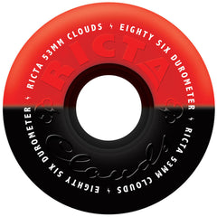 Ricta Cloud Duotones Skateboard Wheels - Black/Red - 53mm 86a (Set of 4)