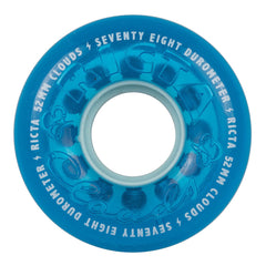 Ricta Crystal Clouds Skateboard Wheels - Blue - 52mm 78a (Set of 4)