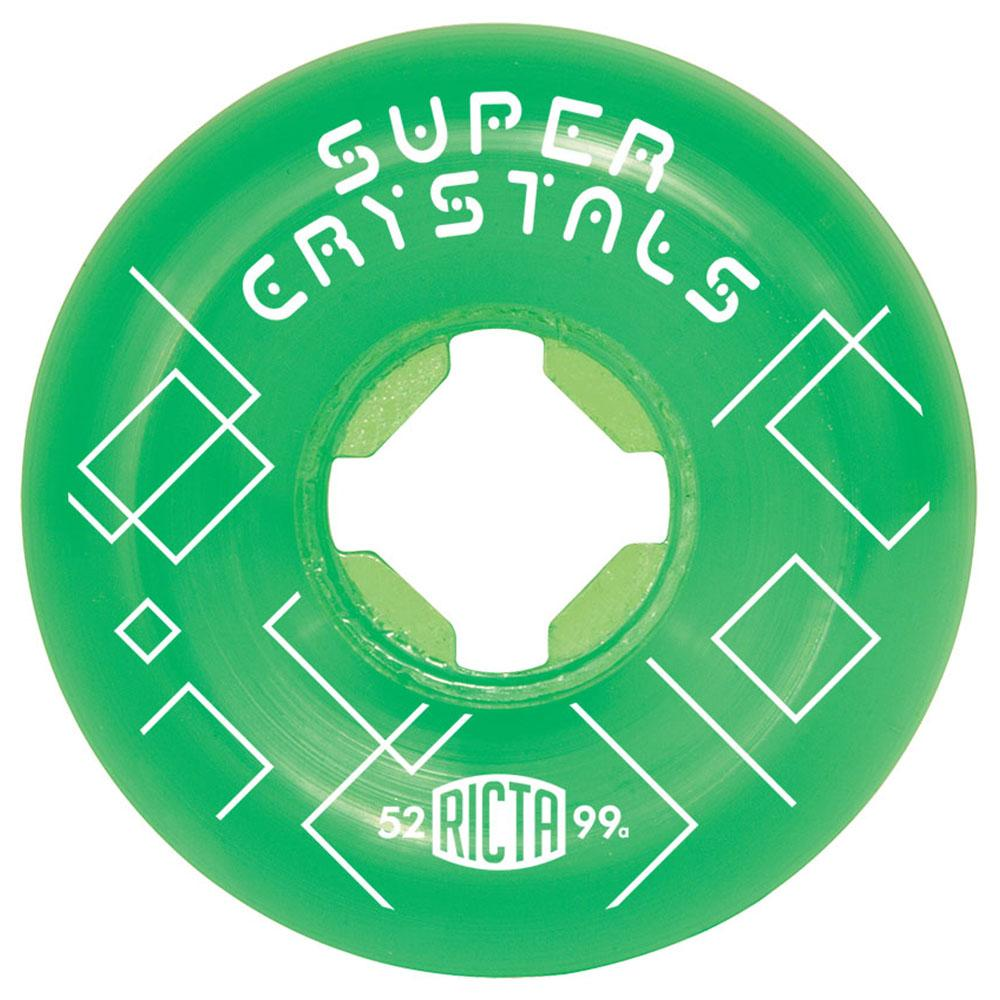 Ricta Super Crystals Skateboard Wheels - Green - 52mm 99a (Set of 4)