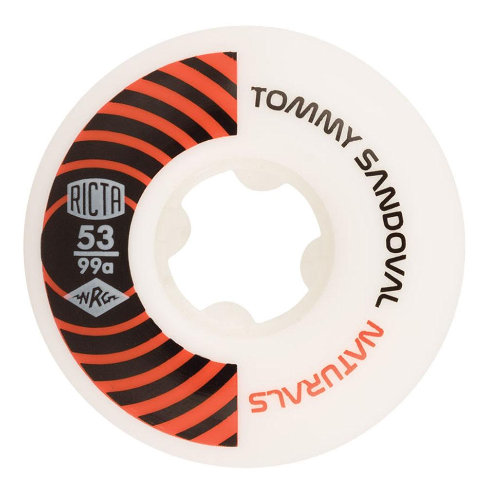 Ricta Tommy Sandoval Pro Naturals Skateboard Wheels - White/Orange - 53mm 99a (Set of 4)