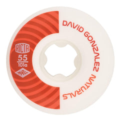 Ricta David Gonzalez Pro Naturals Skateboard Wheels - White/Red - 55mm 101a (Set of 4)