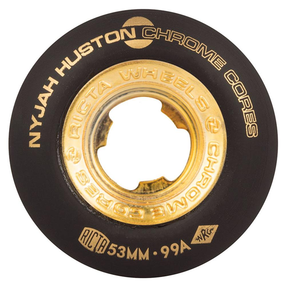 Ricta Huston Chrome Core Skateboard Wheels - Black/Gold - 53mm 99a (Set of 4)