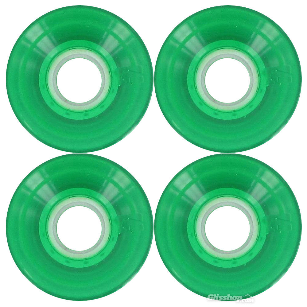 Globe Bantam Skateboard Wheels 62mm 83a - Clear Kelly Green (Set of 4)