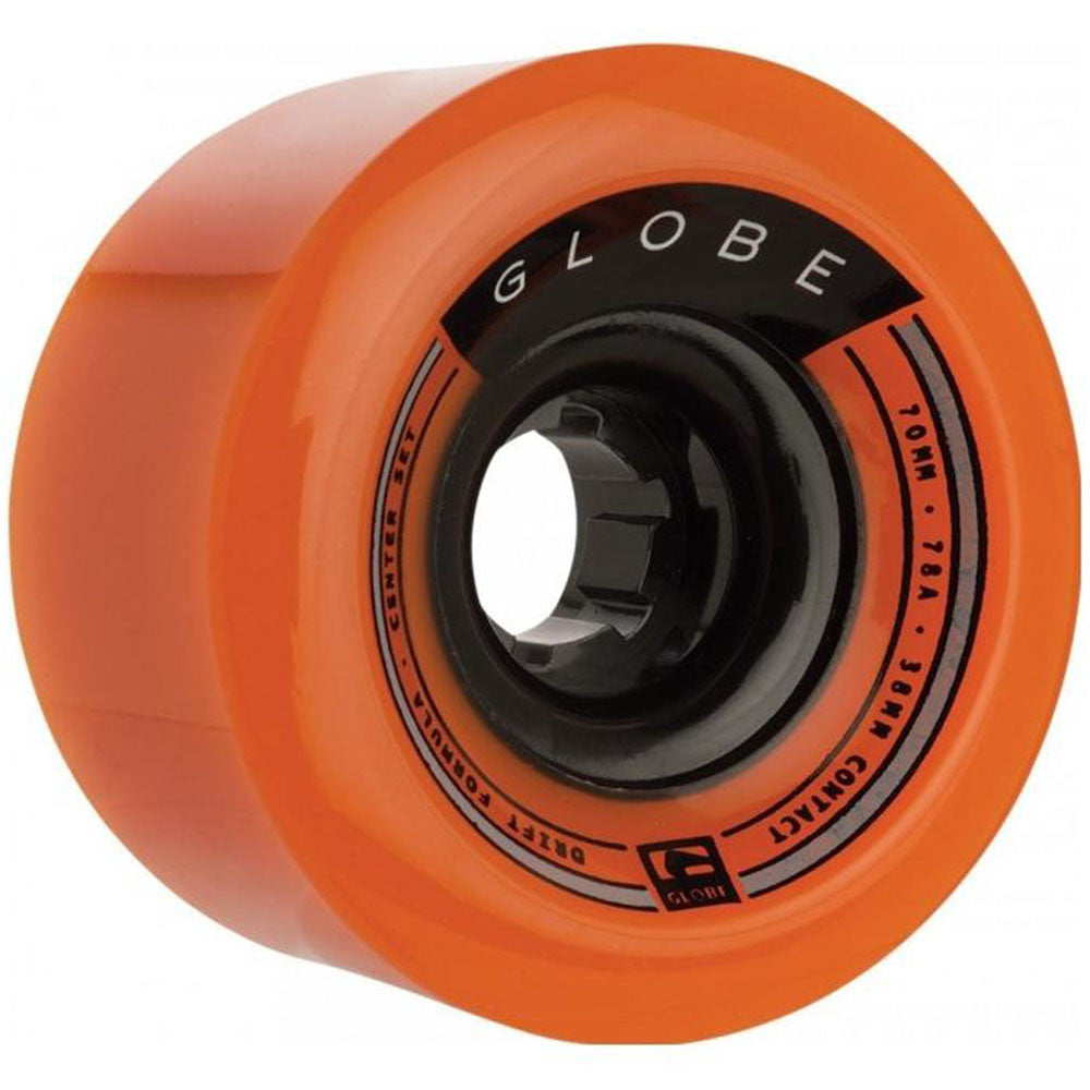 Globe Drifter Skateboard Wheels - Orange - 70mm (Set of 4)
