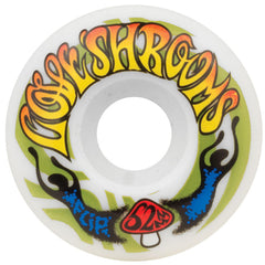Flip Love Shrooms Skateboard Wheels - White - 52mm 99a (Set of 4)
